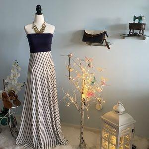Strapless summer long floral dress